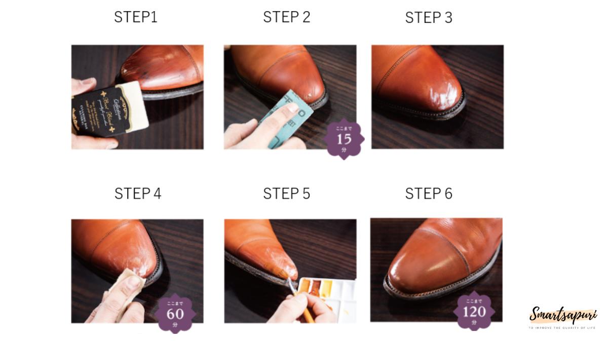 革靴の傷の修復方法の簡単6ステップ